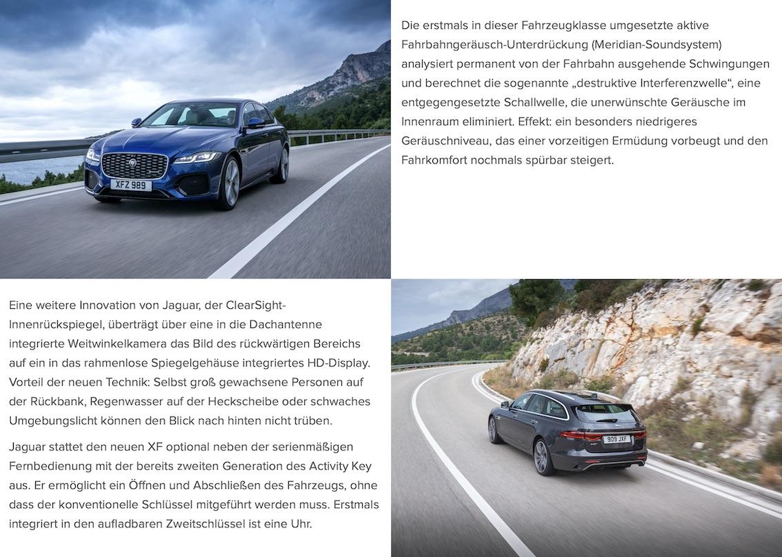 Jaguar XF Modell 2021