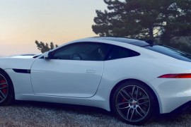 Jaguar F Type Coupe R weiss Rennen Stadt