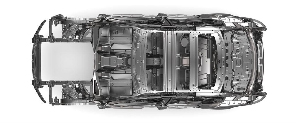 Jaguar XE Monocoque oben