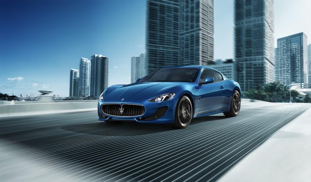 Maserati Gran Turismo Sport vorne blau